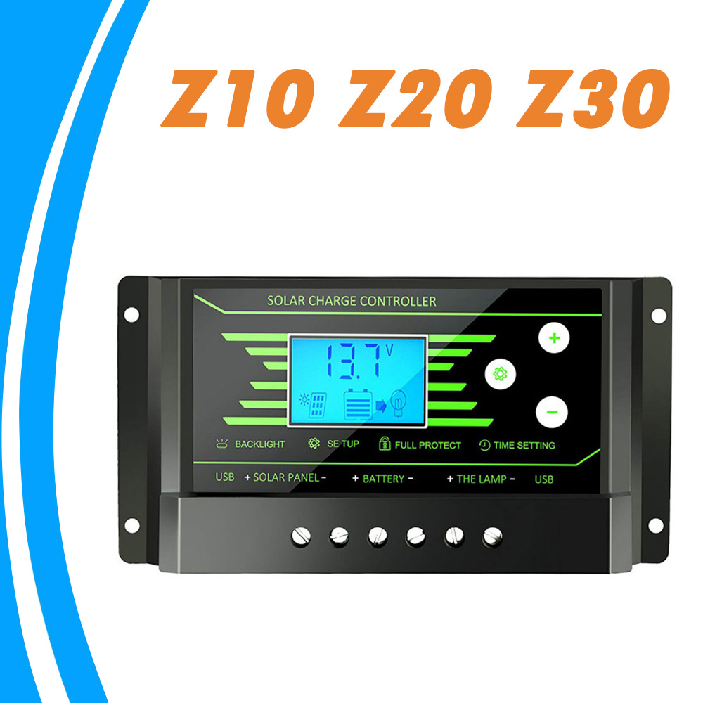 10A 20A 30A PWM Solar Charger Controller 12V 24V Auto Backlight LCD Solar Regulator Voltage Settable Dual 5V USB Battery Charger10A 20A 30A PWM Solar Charger Controller 12V 24V Auto Backlight LCD Solar Regulator Voltage Settable Dual 5V USB Battery Charger