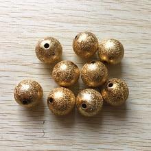 (לבחור גודל) 12mm/16mm/20mm זהב צבע אקריליק חרוזים אבק כוכבים, שמנמן שרשרת ביצוע