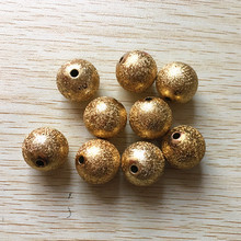 (choose size) 12mm/16mm/20mm gold Color Acrylic Stardust Beads,Chunky Beads For Necklace making