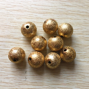 Image 1 - (choose size) 12mm/16mm/20mm gold Color Acrylic Stardust Beads,Chunky Beads For Necklace making