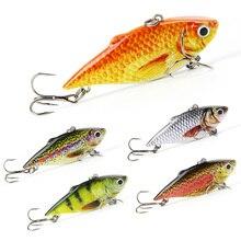 Mmlong 5 Colors 2.5″/8.6g Popular Vib Crankbait 3D Eyes Fishing Lure High Quality Fishing Bait Slow Sinking Fish Wobbler Pesca