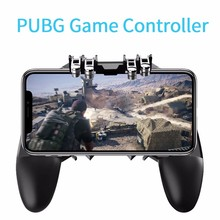 AK66 Six Finger All-in-One Mobile Game Controller Free Fire Key Button Joystick Gamepad L1 R1 Trigger for PUBG Gaming