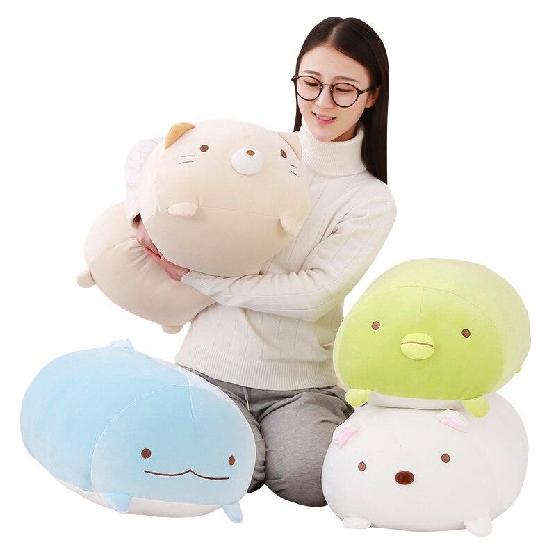 60 cm san-x esquina Bio almohada animación japonesa Sumikko Gurashi peluche algodón niños de dibujos animados chicas de San Valentín regalo