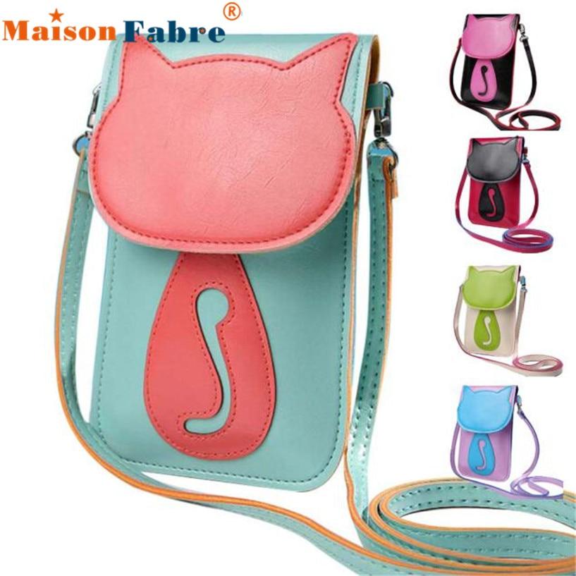 Fabulous Cute Cartoon Purse Bag Leather Cross Body Shoulder Phone Coin Bag bolsos mujer No09 new and original mig30j502l 2pcs lot