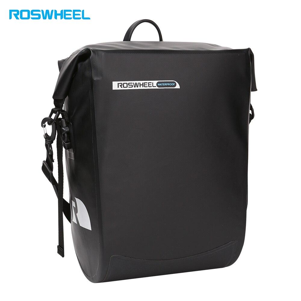 ROSWHEEL Велосипедный спорт сзади стойки сумка велосипед передняя Труба 20L большой ёмкость водостойкий висит Паньер сумки