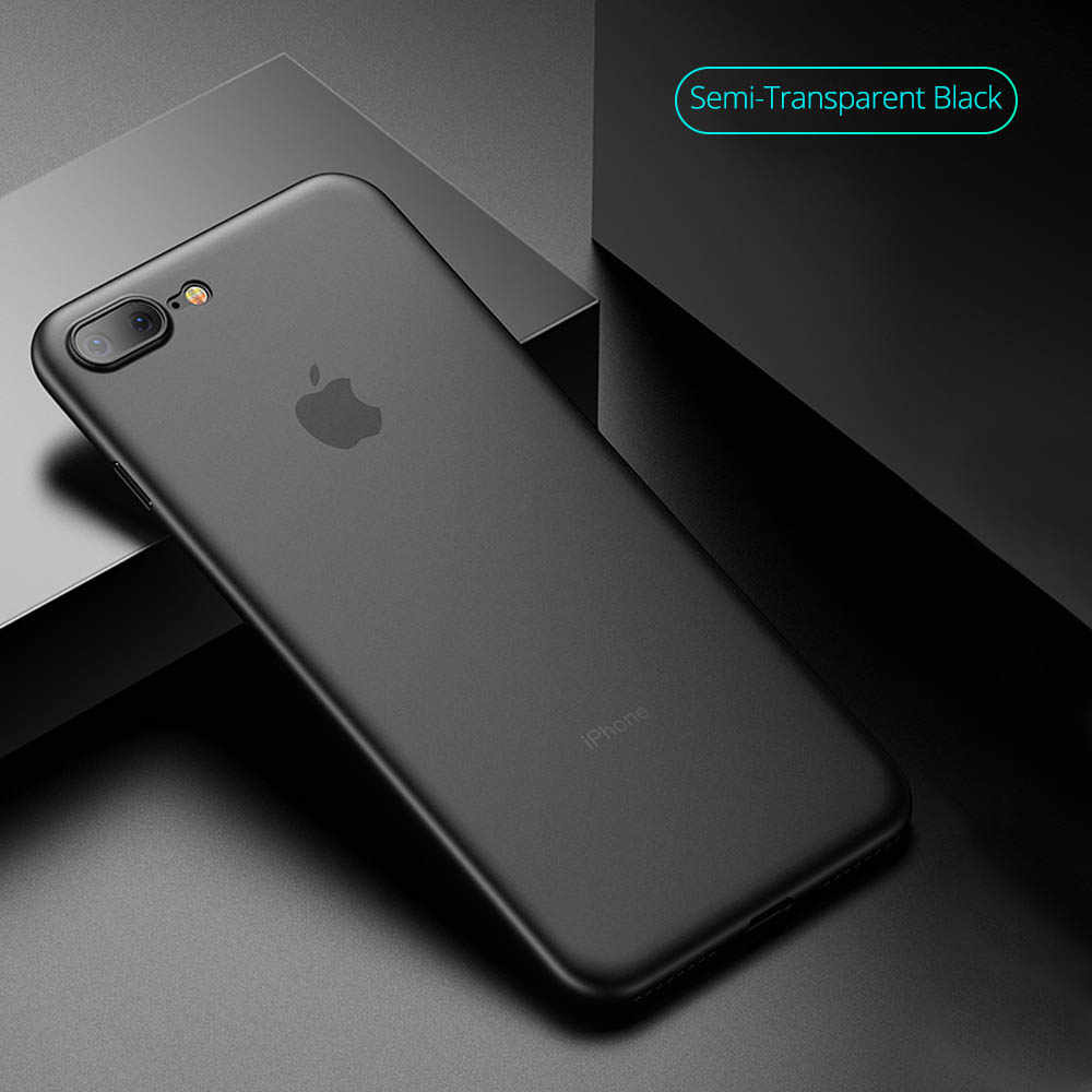 Matte Frosted Phone case for iPhone 7 8 X 6 6S Plus 5 5S SE Semi Transparent Anti-slip for iPhone X 7plus ultra slim case