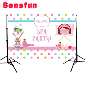 Image 3 - Background For Photography Construction Party Banner Decor Spa Party Backdrop Colorful Polka Dots Photo Studio Props 7x5ft