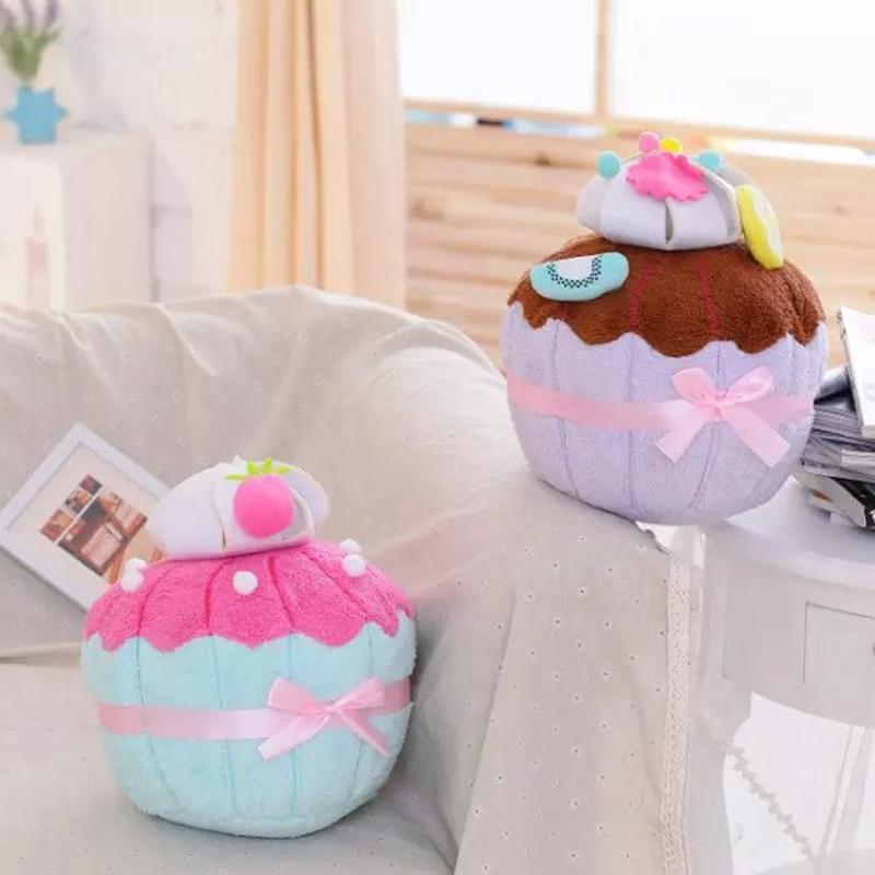 35*25cm Simulation  Ice Cream Shape Plush Pillow Stuffed Plush Toys Home Decor Wedding Valentine Gifts for Children home decor starfish beach style pillow case