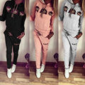 2016 Fashion Style Women Casual Cartoon Monkey Long Sleeve Tracksuit Sweatshirt Suits Set