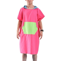 Hot Women Man Beach Changing Robe Bath Towel Quick dry Outdoor Sports Adult Hooded Cloak Poncho Bathrobe Towels
