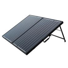 120W 12V PV Folding Mono Solar Panel for Home Outdoor Camping Hiking RV Boat Solar Generators