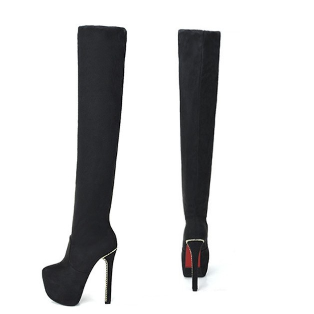 Thigh High Leather Platform Boots Promotion-Shop for Promotional ...