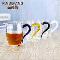 PINDEFANG Colorido 400 ml-resistente ao Calor Vidro bule de Chá Caneca Justo Xícara de Servir Partilha filtro Presente teaSet Kungfu teaware venda quente