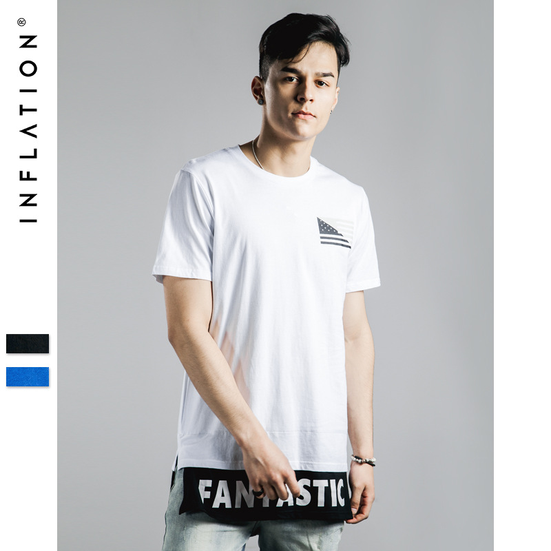 83f501a4 Mens Longline Tshirts Long Sleeve Crew Neck Longline T Shirts Men Long Fit  T Shirt Tall Tee Fashion Streetwear Free Shipping-in T-Shirts from Men's  Clothing ...