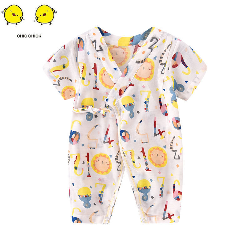 New born baby girl clothes  spring and autumn thin onesies toddler romper
