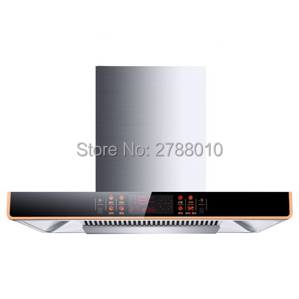 Kitchen Ventilator Smoke Exhaust Ventilator Large Suction Household Range  Hood Stainless Steel Smoke Exhauster CXW