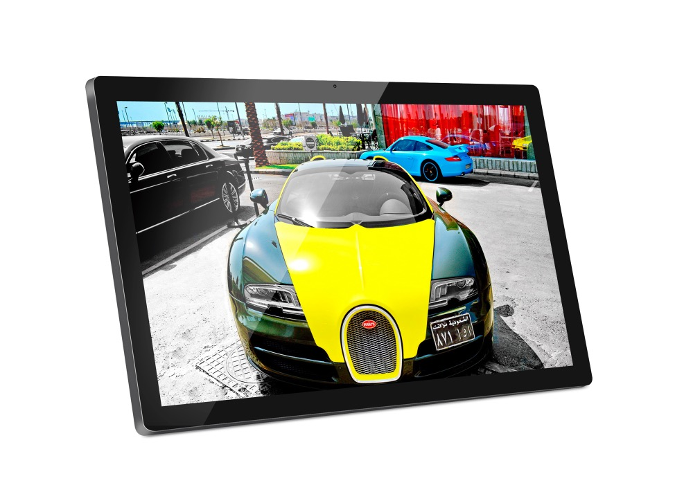 24 inch Android digital signage display with remote (No touch, No camera, Quad core, 1.6Ghz, 1GB DDR3, 16GB nand flash, BT) 1