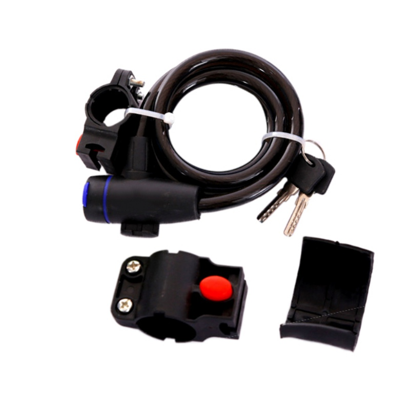 Hot!!Essential for Bicycle Lock Tin Alloy Steel Wire Cable Combination Locks Mountain Bike Accessories With Support Computer Key