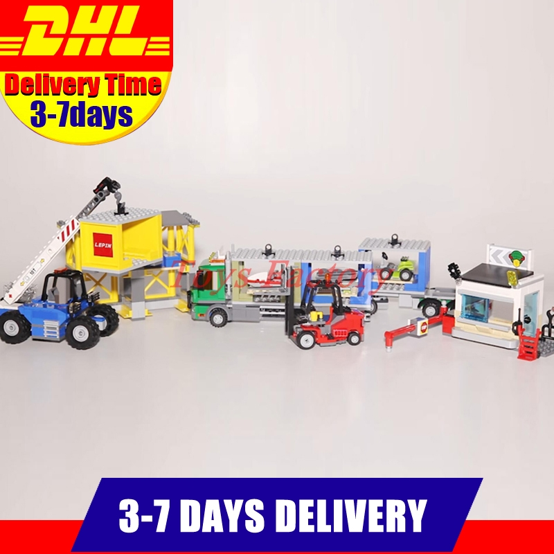 DHL IN-STOCK Clone 60169 LEPIN 02082 829 PCS The Cargo Terminal Set Building Block Bricks Toys Gifts Toys As Gift Model lepin 02082 new 829pcs city series the cargo terminal set diy toys 60169 building blocks bricks children educational gifts model
