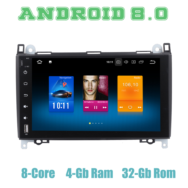 Autoradio Octa core PX5 Android 8.0 gps pour Benz Sprinter Vito Viano A B classe W169 W245 B200 avec 4 + 32G wifi 4g usb stéréo automatique