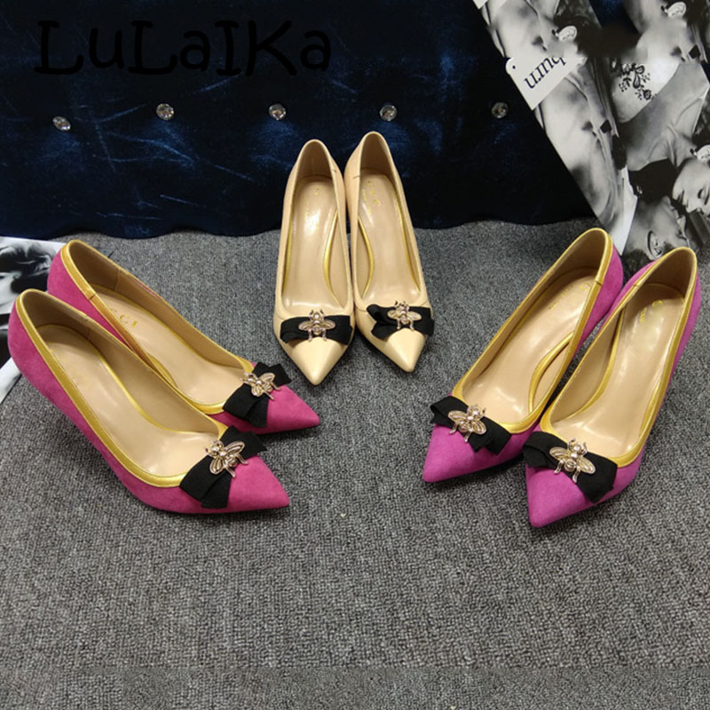 2a23e3c390 Detail Feedback Questions about Sexy Yellow Bowknot and Honey Pointed Toe  Women Pump Shoes Stilettos High Heels Slip on Shoes Women Evening Party High  Heels ...