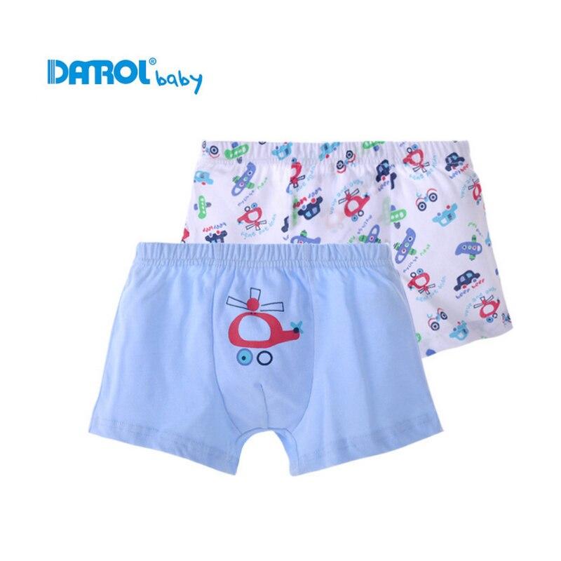 Chlapecké spodní prádlo 2 ks / šarže 100% bavlněné boxerky kalhotky dětské kalhotky krásné kreslené kalhotky dětské spodní prádlo