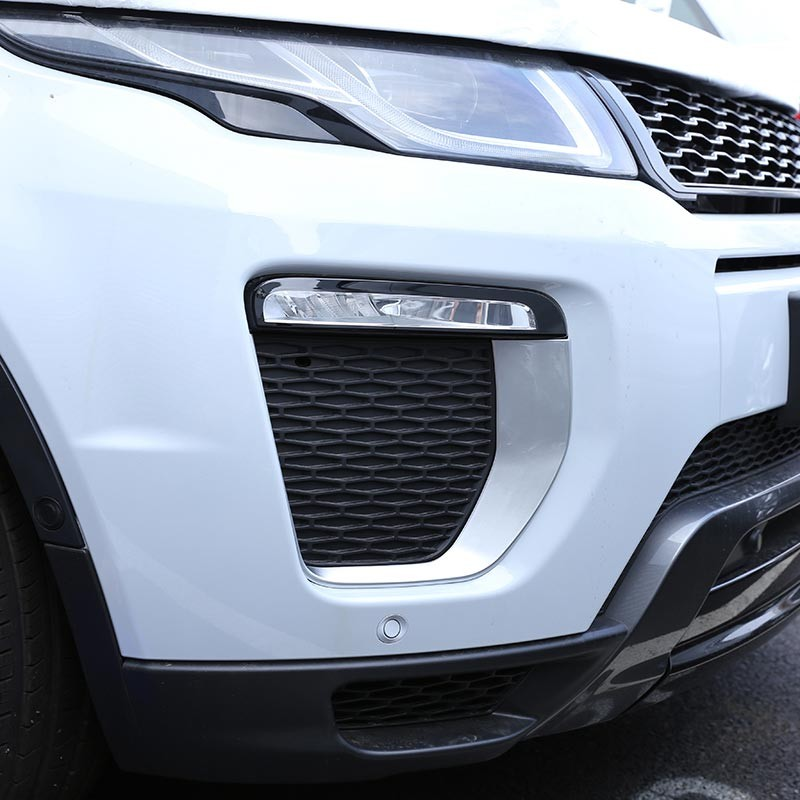 For Landrover Range Rover Evoque HSE Dynamic 2016 Car Accessories Front Fog Lamp Frame Trim ABS Chrome New Arrivals silver black side fender sticker for land rover range rover evoque 2011 2016 abs chrome car accessories