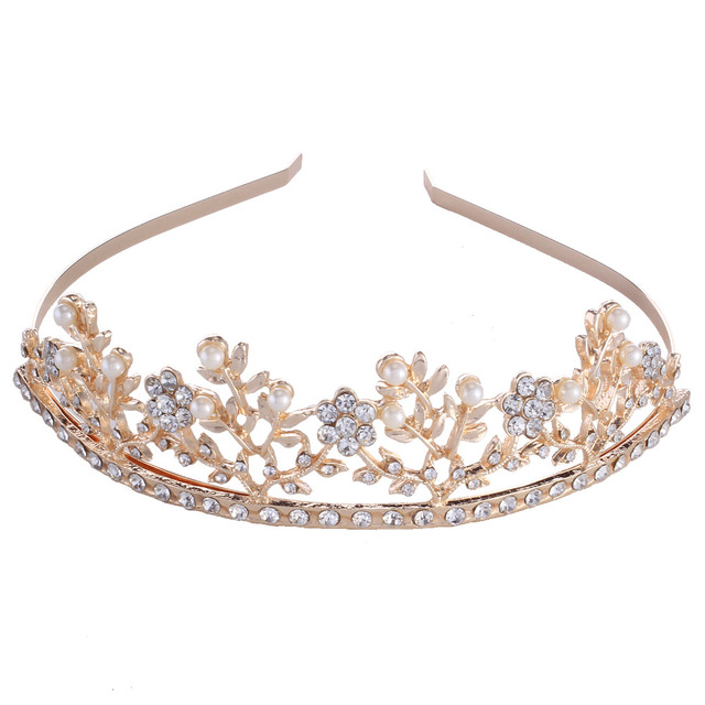 5 Pcs Shiny Crystal Rhinestone Headband Rose Gold Wedding Party Tiara Hair  bands Bridal Hair Accessories Flower Girl s Hair Hoop 107c3e19245