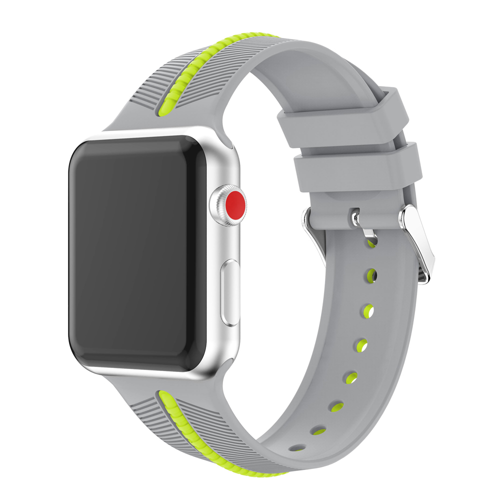 CRESTED watch accessories bracelet for apple watch band/strap 42mm 38mm series 3/2/1 silicone wrist belt watchband for IWATCH new sport silicone strap for apple watch band 42mm 38mm wrist bracelet watchband for iwatch series 3 2 1 two color watch belt
