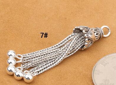 925 Серебряная кисточка DIY браслет кисточка чистое серебро ювелирные изделия кисточка - Цвет: Style 7