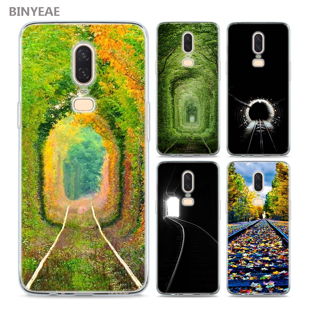 BINYEAE The railway A train for spring Style Silicone TPU Ultra Thin Clear Soft Phone Case for Oneplus 6 5T Cover Coque