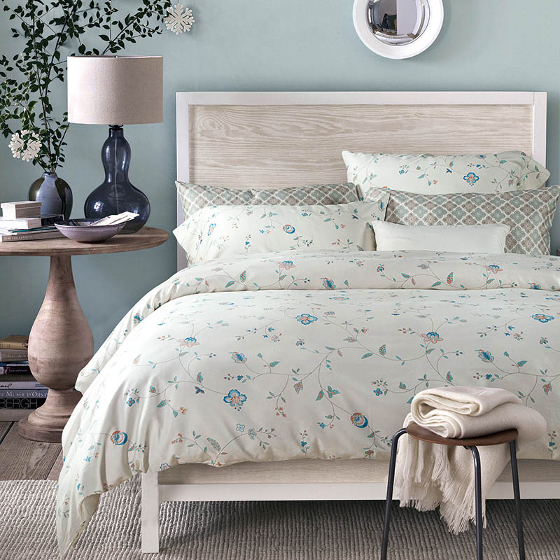 Floral Print Bedding Set Egyptian Cotton Satin Queen