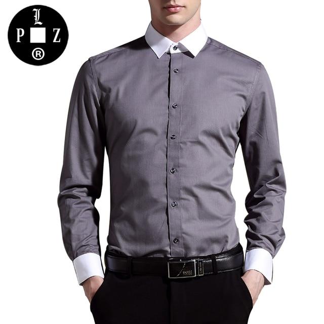 Mens black dress shirt no pockets