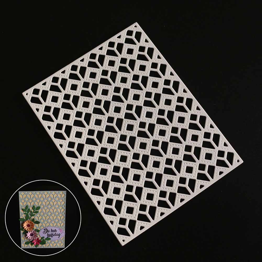 DIY Embossing Cutting Dies Tool Mould Hollow Grid For Scrapbooking Card Album Photo Deco ...