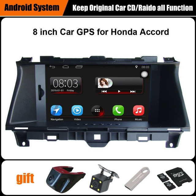 Upgraded Original Android 7.1 Car multimedia Player Car GPS Navigation Suit to Honda Accord (2008-2012) Support WiFi Bluetooth