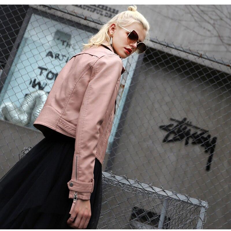 Nouvelles Casual Manteau Femelle Femmes Le Ok653 Plus Chaud Bureau En Black Cuir Véritable Veste pink Coton Hiver 2019 Mince Loisirs OxafCwqXPX