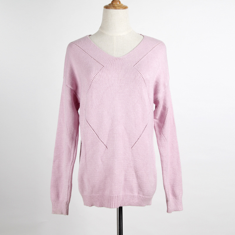 LIENZY Autumn Juniors Oversized Knit Sweaters V Neck Long Sleeve ...