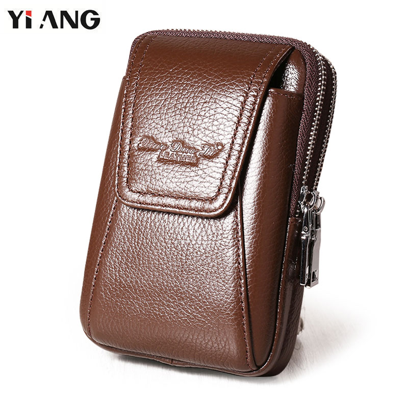 CHEZVOUS Leather Belt Bag Pouch for Samsung J Series S8 S8 plus S7 Mobile Phone Bag Waist Bag for Samsung S6 s6 edge S5 S4 Note8