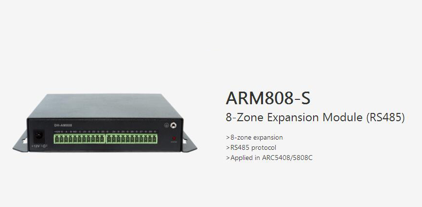 Free Shipping DAHUA Security Products Accessories 8-Zone Expansion Module RS485 Without Logo ARM808-S expansion module elc md204l text panel