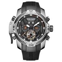 Reef Tiger/RT спортивные часы с сложным циферблатом с месяцем года вечный календарь большой стальной чехол для часов RGA3532