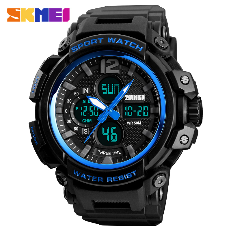 SKMEI Sport Watch Men Waterproof LED Digital Watches Top Brand Luxury Fashion Military Wrist Watches Male Clock for Men skmei mens watches top brand luxury led digital wrist watch men waterproof fashion military outdoor sport clock men s wristwatch