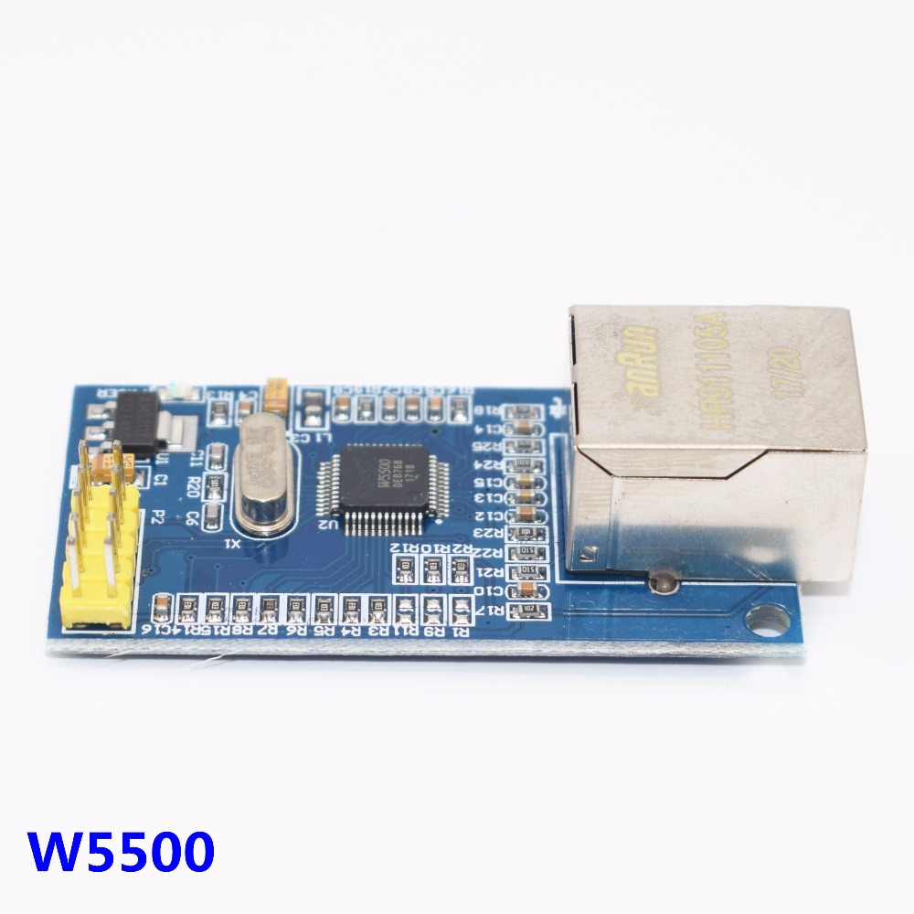 10pcs W5500 Ethernet network module hardware TCP IP 51 STM32 microcontroller program over W5100