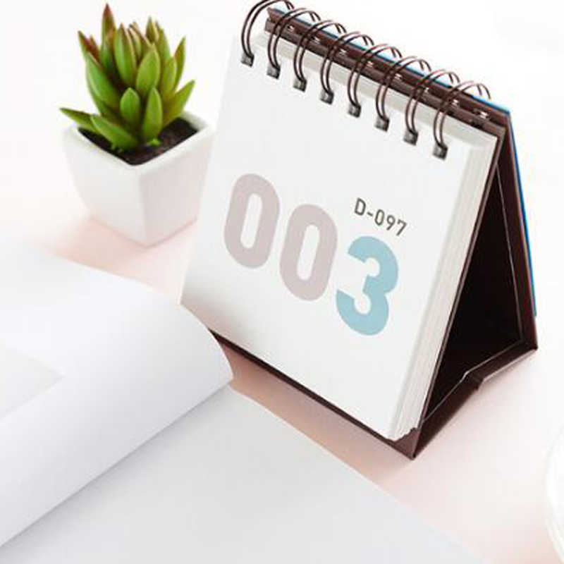 Calendario Timing.Calendar 2019 100 Timing Desk Desktop Small Waterproof Coil Notebook Triangle Base Desktop Planning For The Future Calendario