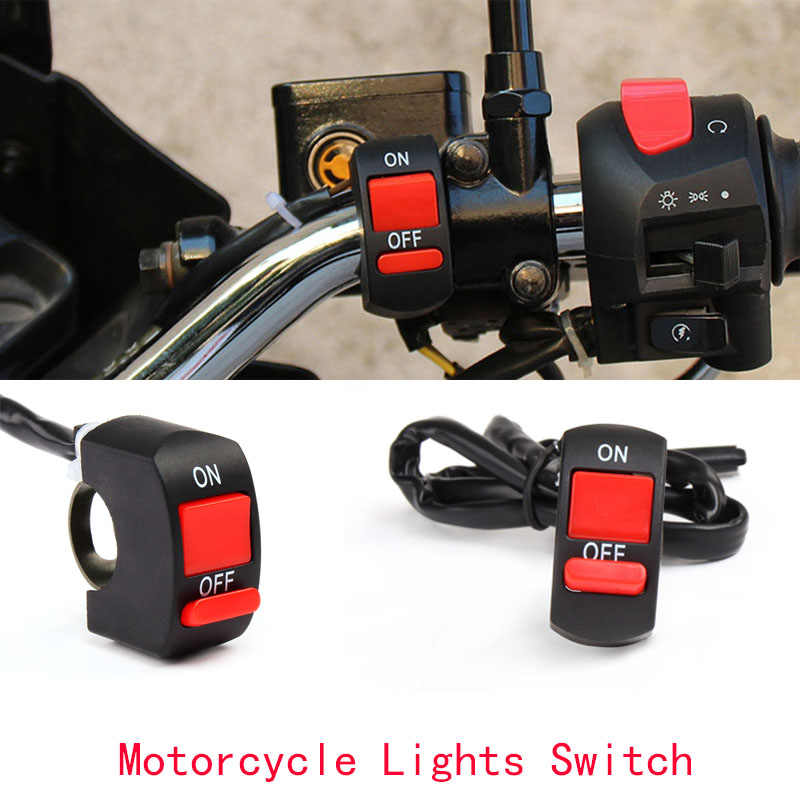 Universal Motorcycle Handlebar Flameout Switch ON/OFF Button for Moto Motor ATV Bike DC12V/10A Black Handlebar Switch