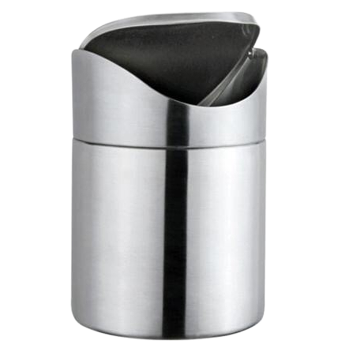 Hipsteen Stainless Steel Mini Desktop Trash Can With Swing Lid Storage  Barrels Rubbish Bin Kitchen Office