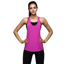 Women summer 2019 Sexy Loose Gym Sport Vest Training Run underwear top femme fashion slide flaffy with sleeves one shoulder pink(China)