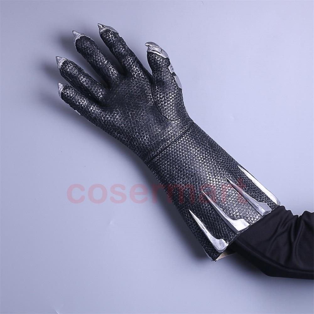2018 Movie Black Panther Claws Gloves Cosplay Superhero Gloves Halloween Prop 2