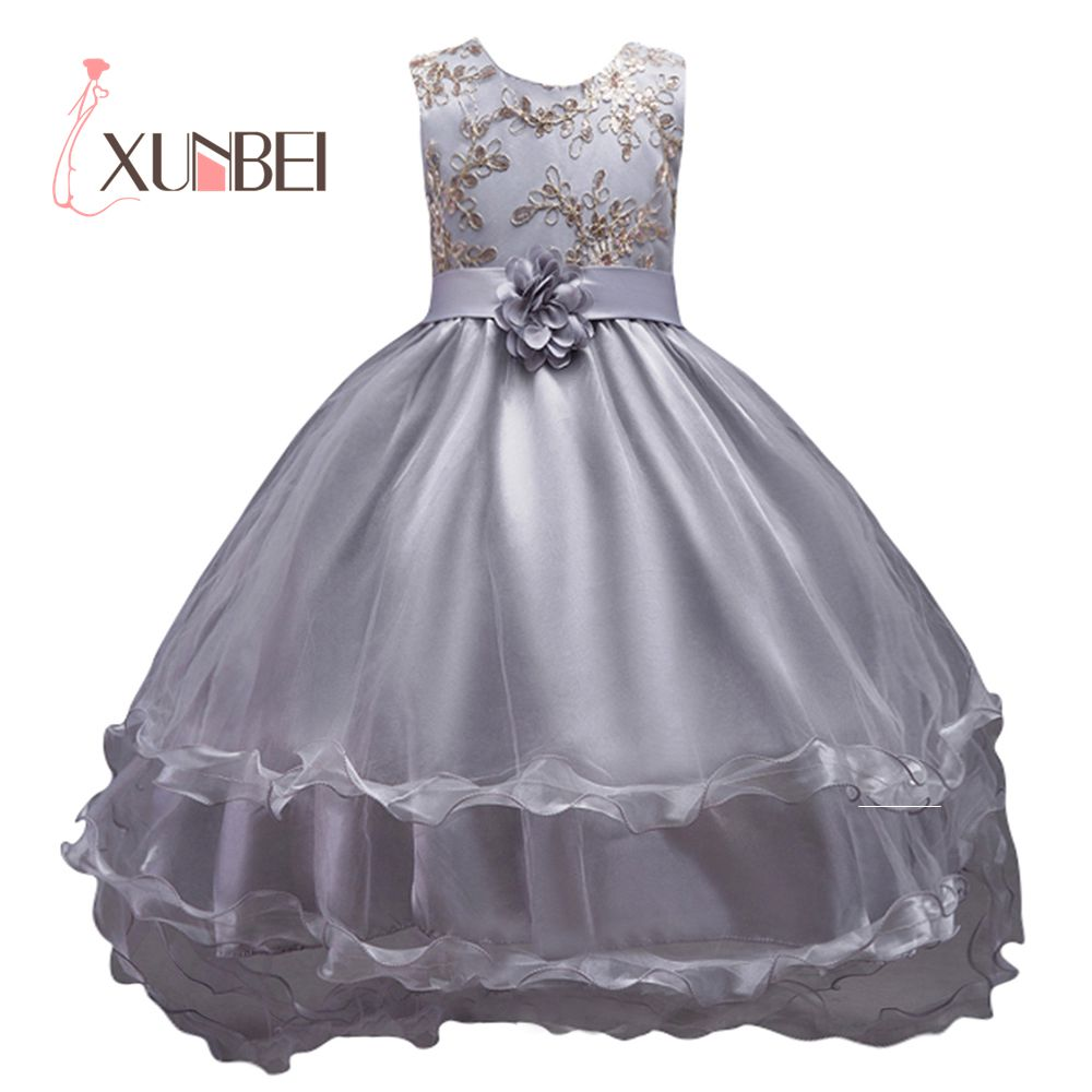vestido daminha Princess Tiffany Blue Flower Girl Dresses 2019 Organza Peagant Dresses Girls Evening Party Dress