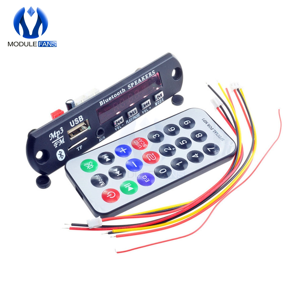 1set Standard Wireless Bluetooth 12v Mp3 Wma Decoder Board Audio Module Tf Usb Radio For Car Lcd Screen Remote Controller