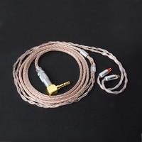Okcsc 0.78 ملليمتر جاك 3.5 ملليمتر التوصيل استبدال الكابل 7N واحد الكريستال بالفضة و النحاس أسلاك الترقية ل UE18 JH13 16W4r UM3X
